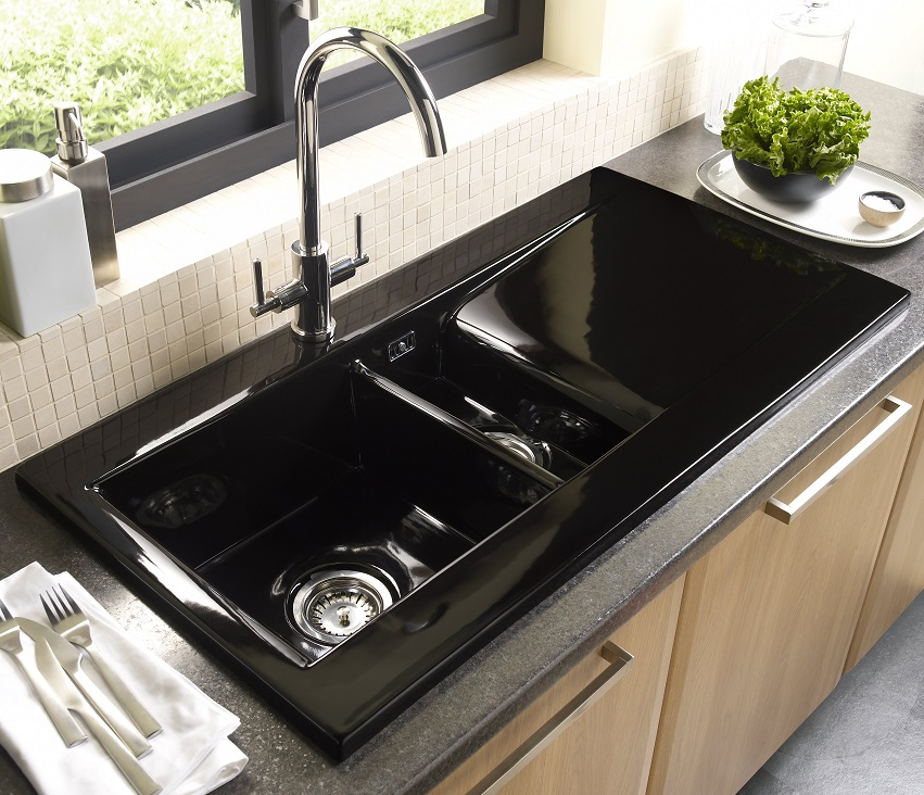 Small Black Ceramic Kitchen Sink