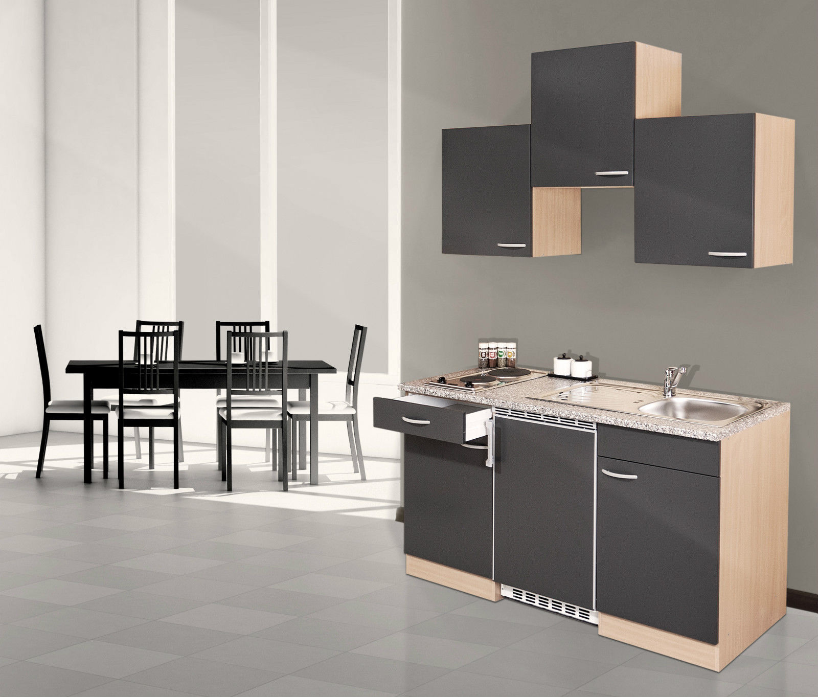 respekta single einbau mini k che k chenzeile k chenblock. Black Bedroom Furniture Sets. Home Design Ideas