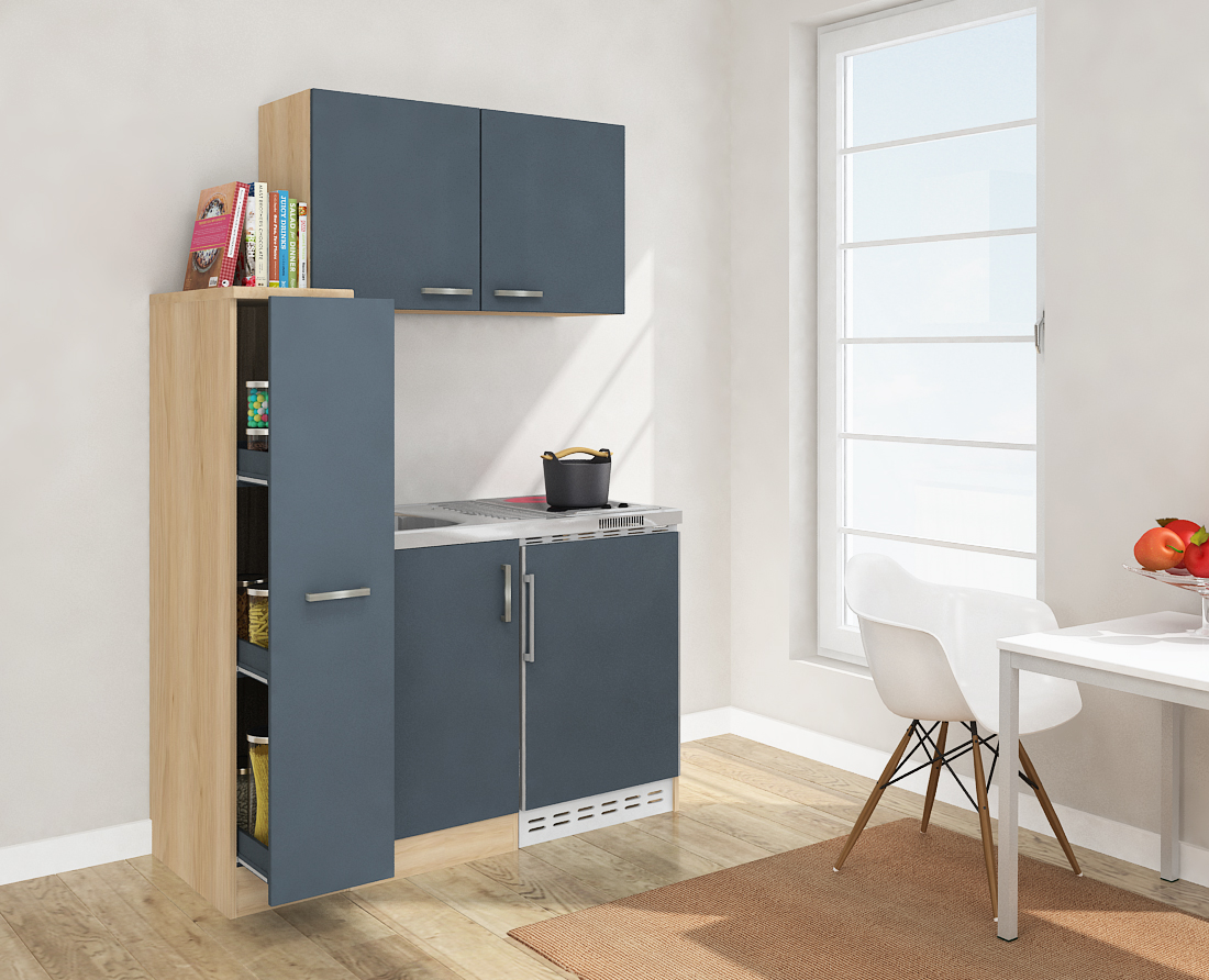 respekta mini k che singelk che 130cm mit oberschrank. Black Bedroom Furniture Sets. Home Design Ideas