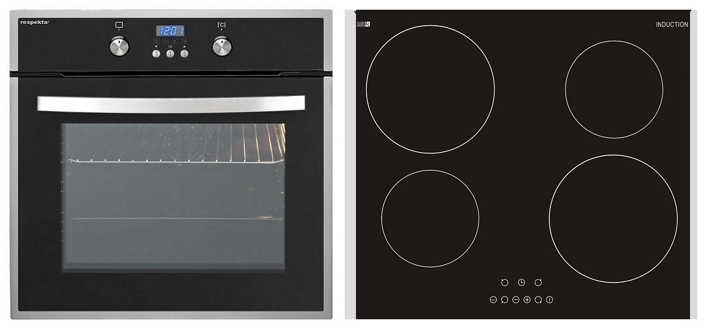 backofen mit kochfeld herdset induktions kochfeld backofen mit umluft grill timer 50572 ebay. Black Bedroom Furniture Sets. Home Design Ideas