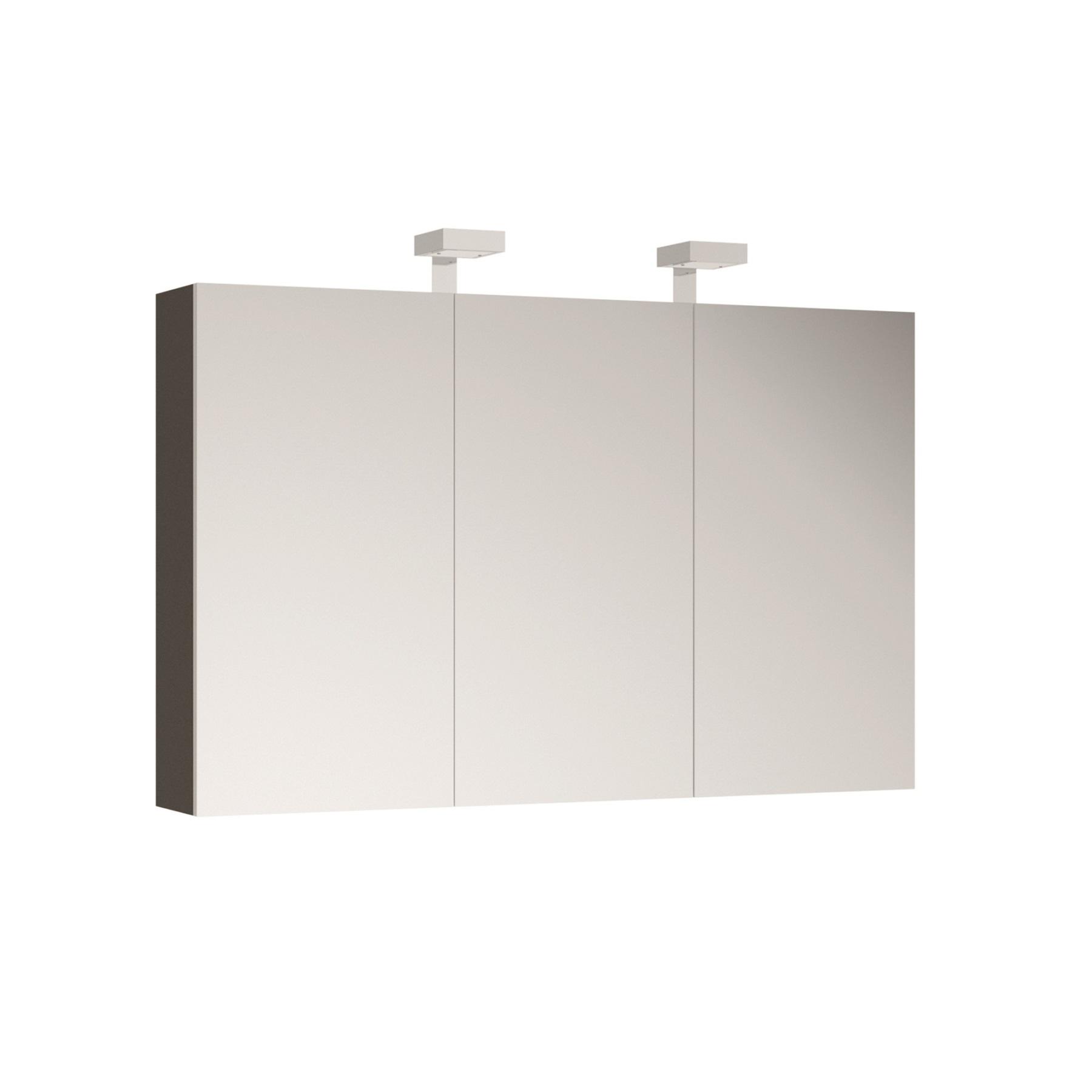 allibert spiegelschrank spiegel badm bel vormontiert grau glanz 120 cm led ebay. Black Bedroom Furniture Sets. Home Design Ideas