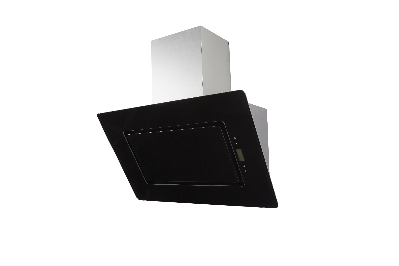 respekta dunstabzugshaube wandhaube 90 cm glas kopffrei schwarz edelstahl eekl a ebay. Black Bedroom Furniture Sets. Home Design Ideas