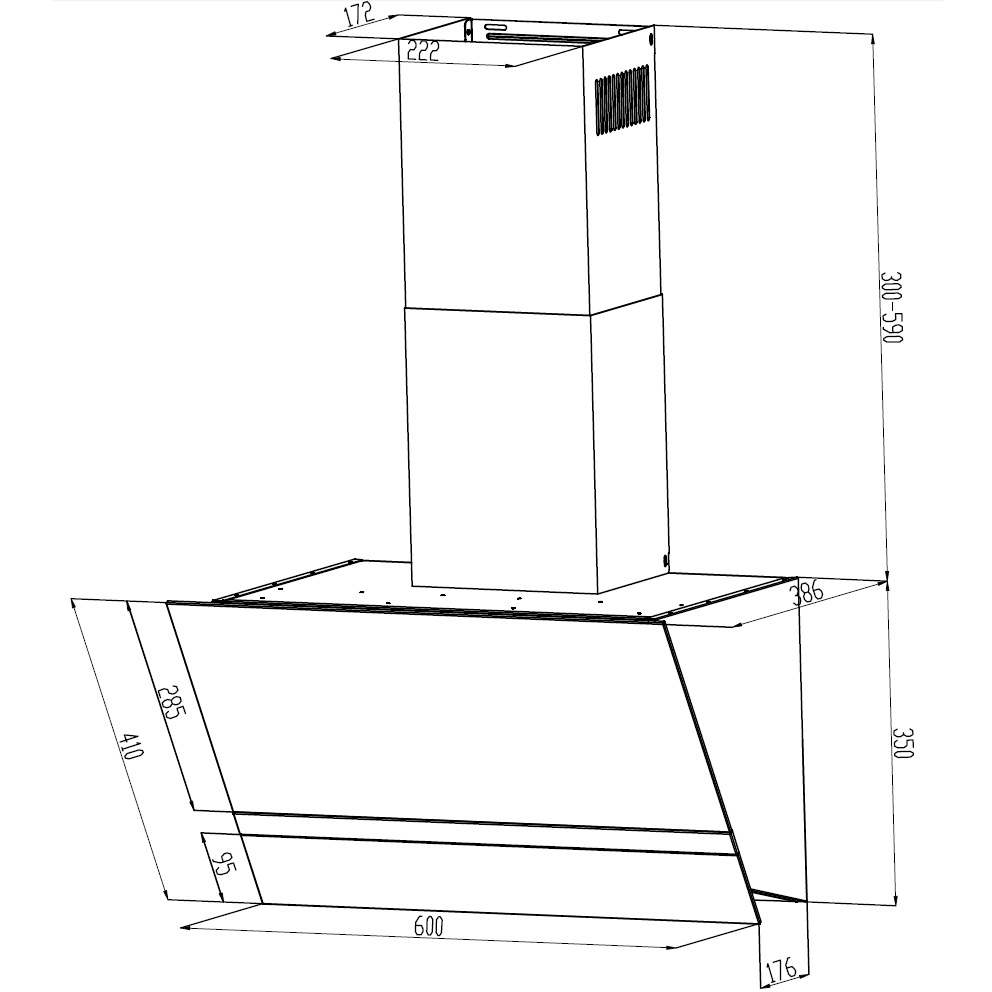 dunstabzugshaube kopffrei schr ghaube wandhaube schr g haube 60 cm wei respekta ebay. Black Bedroom Furniture Sets. Home Design Ideas