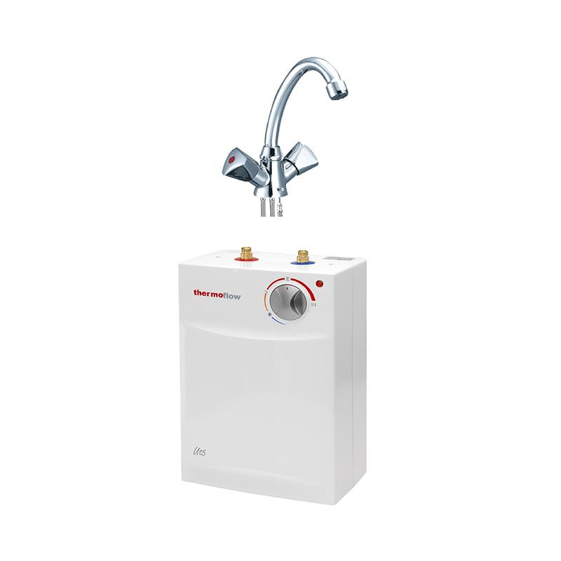 thermoflow 5 liter untertisch boiler warmwasserspeicher inkl armatur set ebay. Black Bedroom Furniture Sets. Home Design Ideas