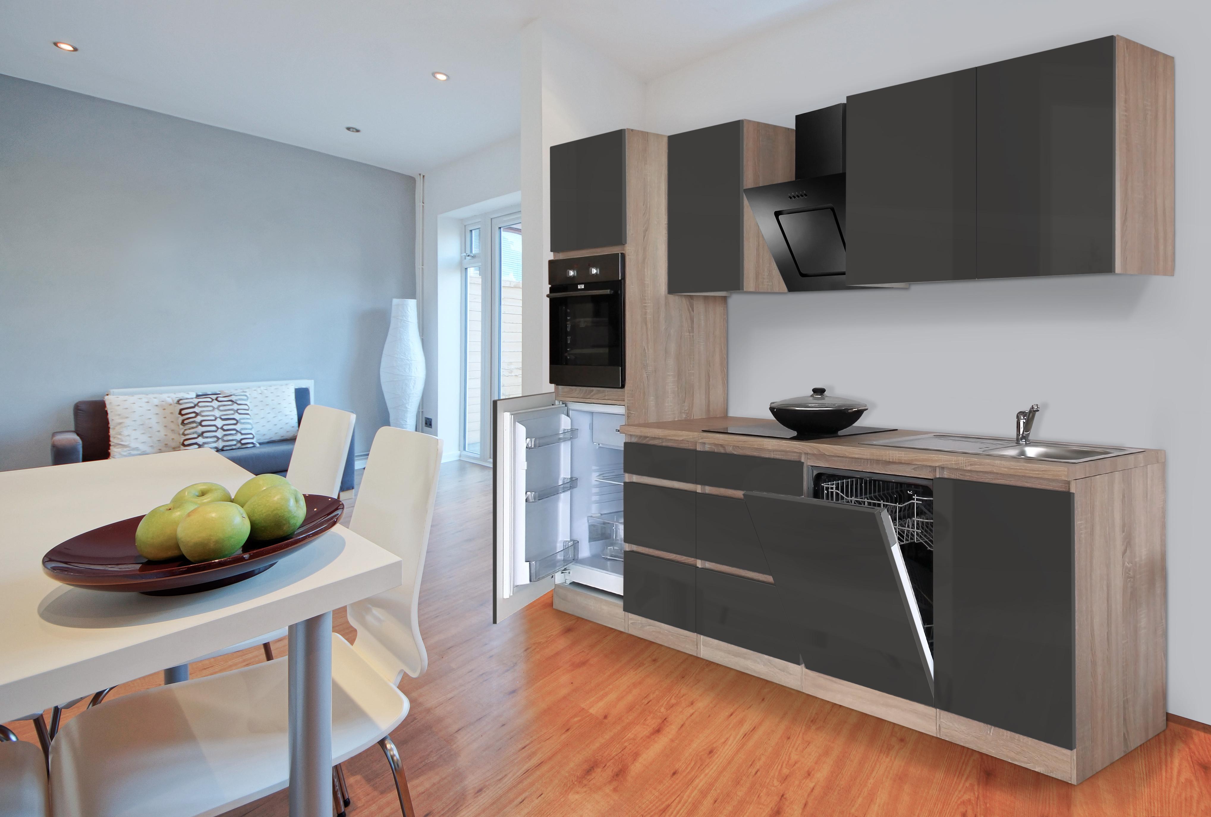 respekta grifflos küche leerblock küchenleerblock 280cm