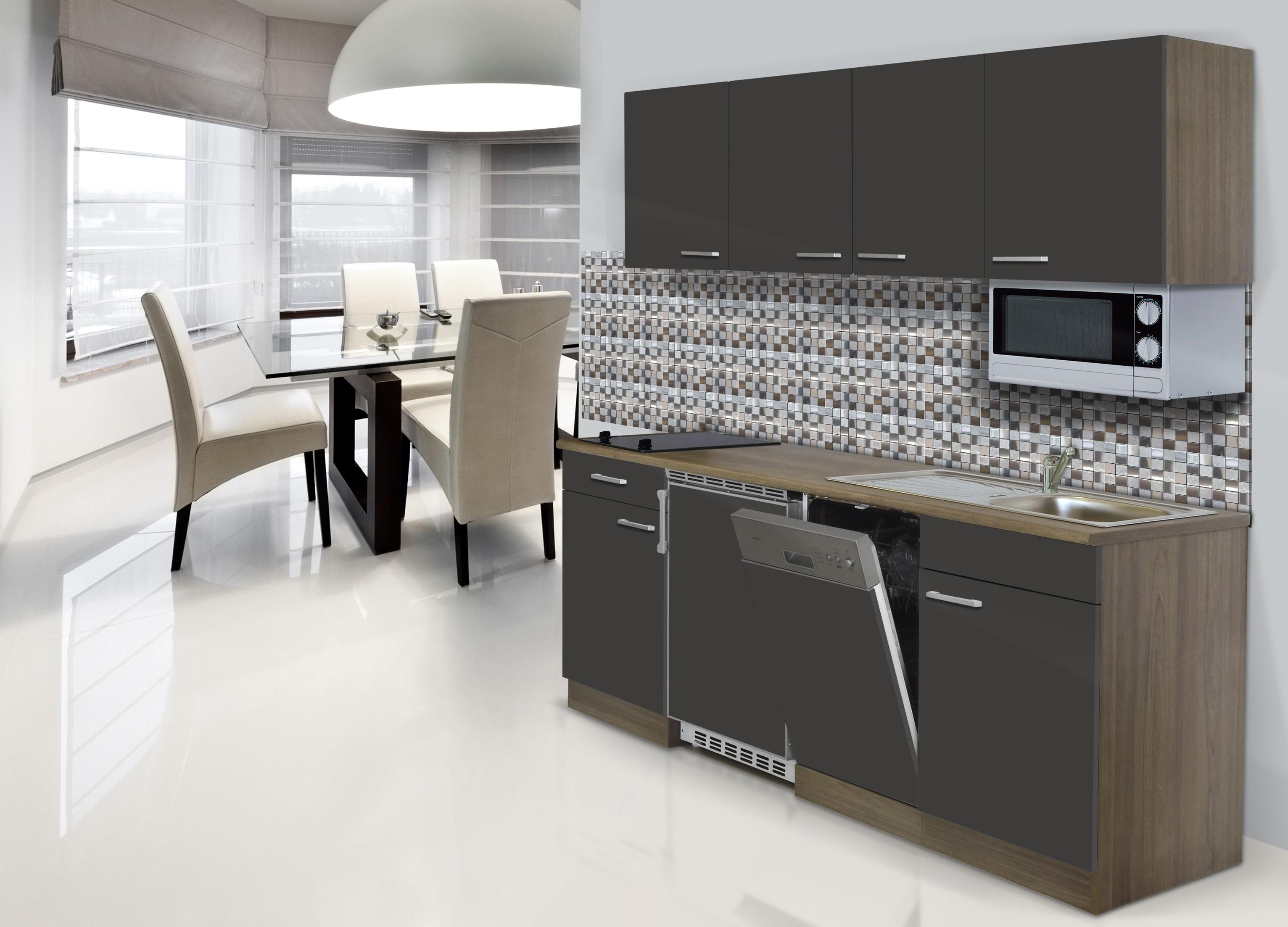 Dettagli su Cucina,Angolo Cucina,Blocco Cucina,Cucina Componibile Singolo  195 cm Rovere York