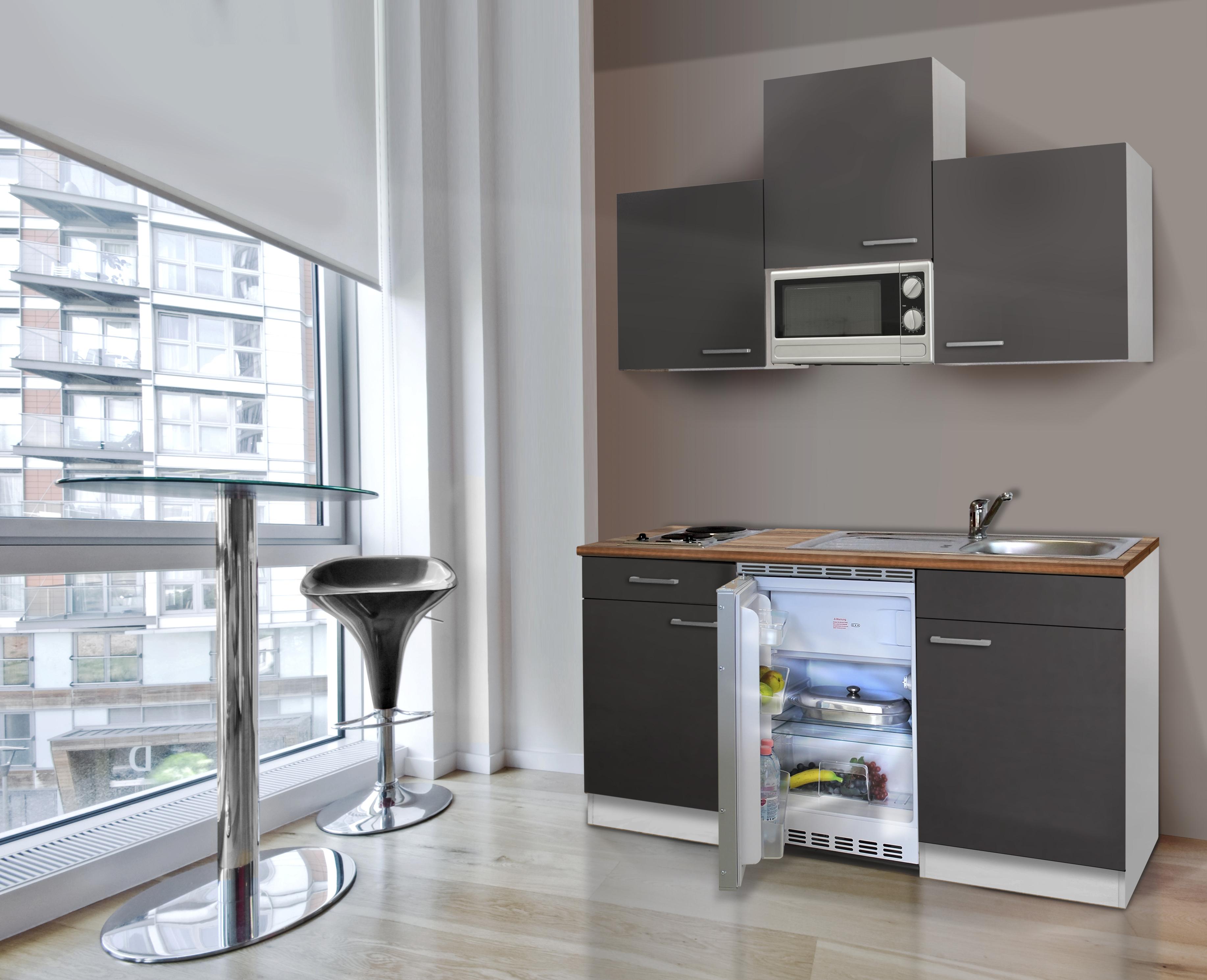 Cucine Bianco Grigio : Cucina singola mini blocco angolo cottura cm bianco grigio