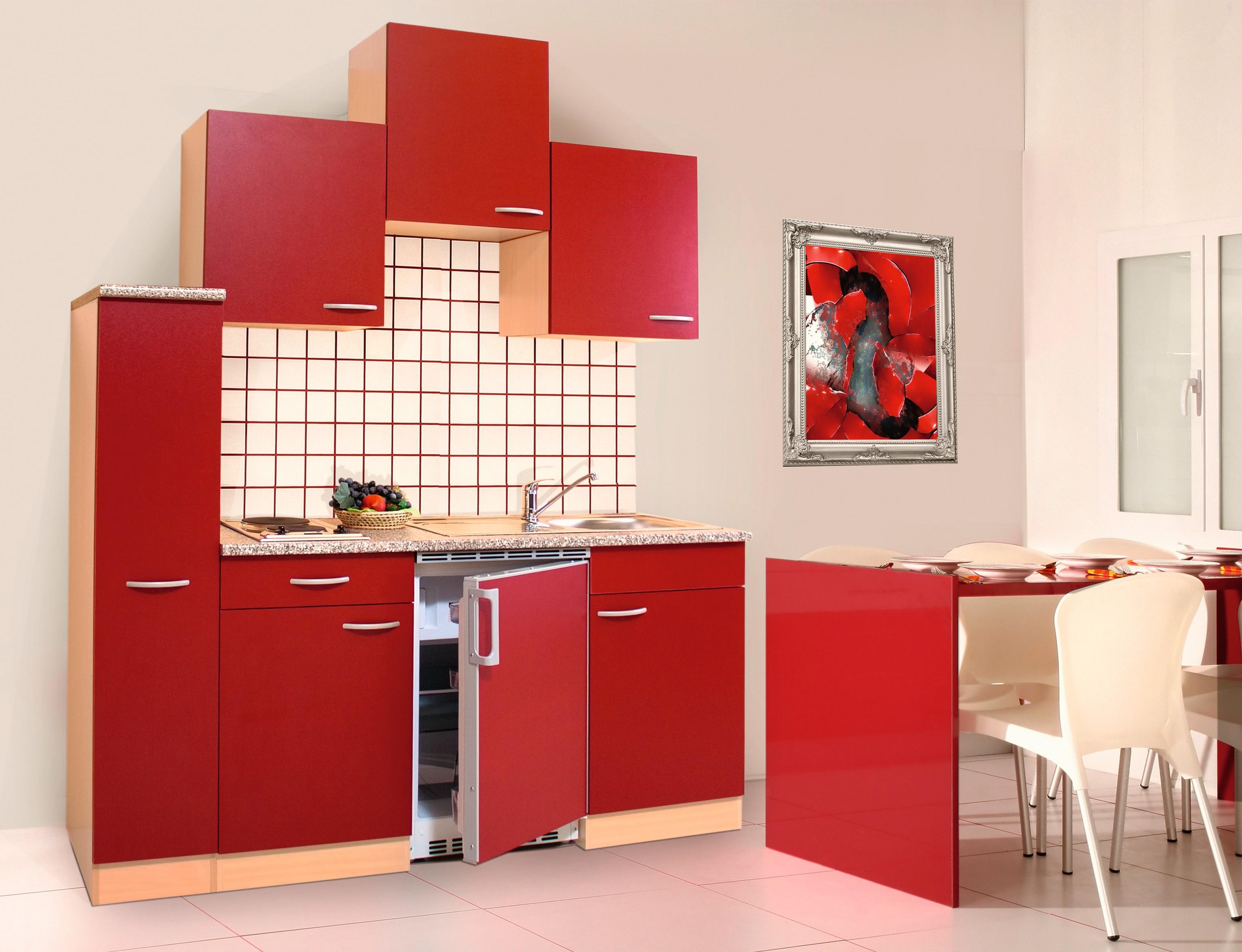 k che singlek che k chenzeile k chenblock minik che 180 cm buche rot respekta ebay. Black Bedroom Furniture Sets. Home Design Ideas
