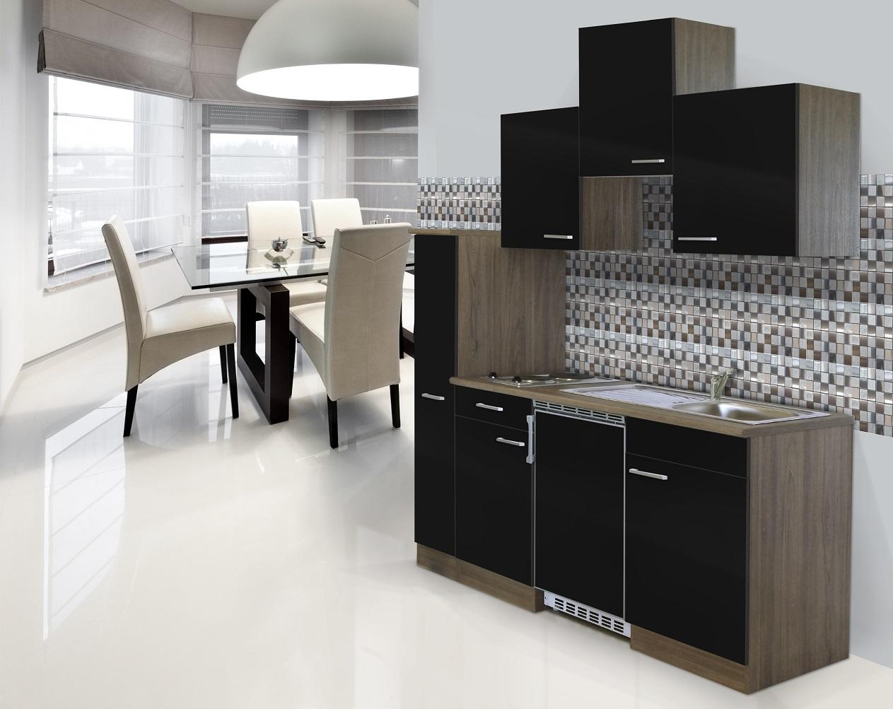 respekta singlek che k che k chenzeile minik che 180 cm eiche york schwarz ceran ebay. Black Bedroom Furniture Sets. Home Design Ideas