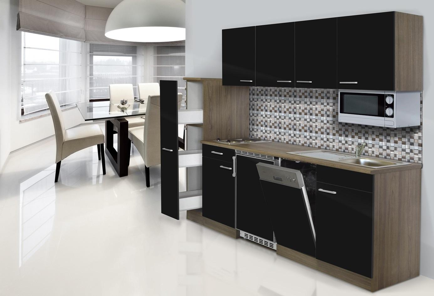 Cucina Cucina Angolo Cottura Cucina Singola 225 cm Rovere York   eBay