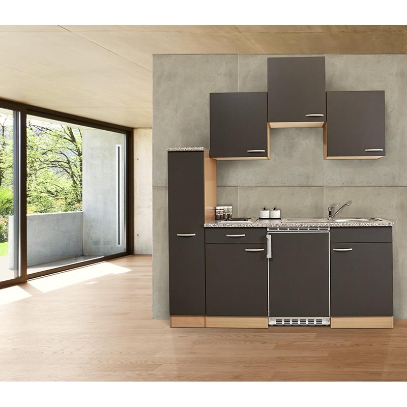 küche singleküche küchenzeile küchenblock miniküche 180 cm