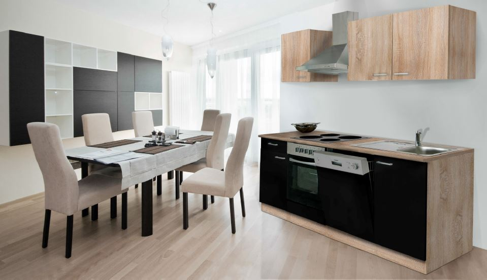 respekta ligne de blocs encastrer pour cuisine 220cm ebay. Black Bedroom Furniture Sets. Home Design Ideas