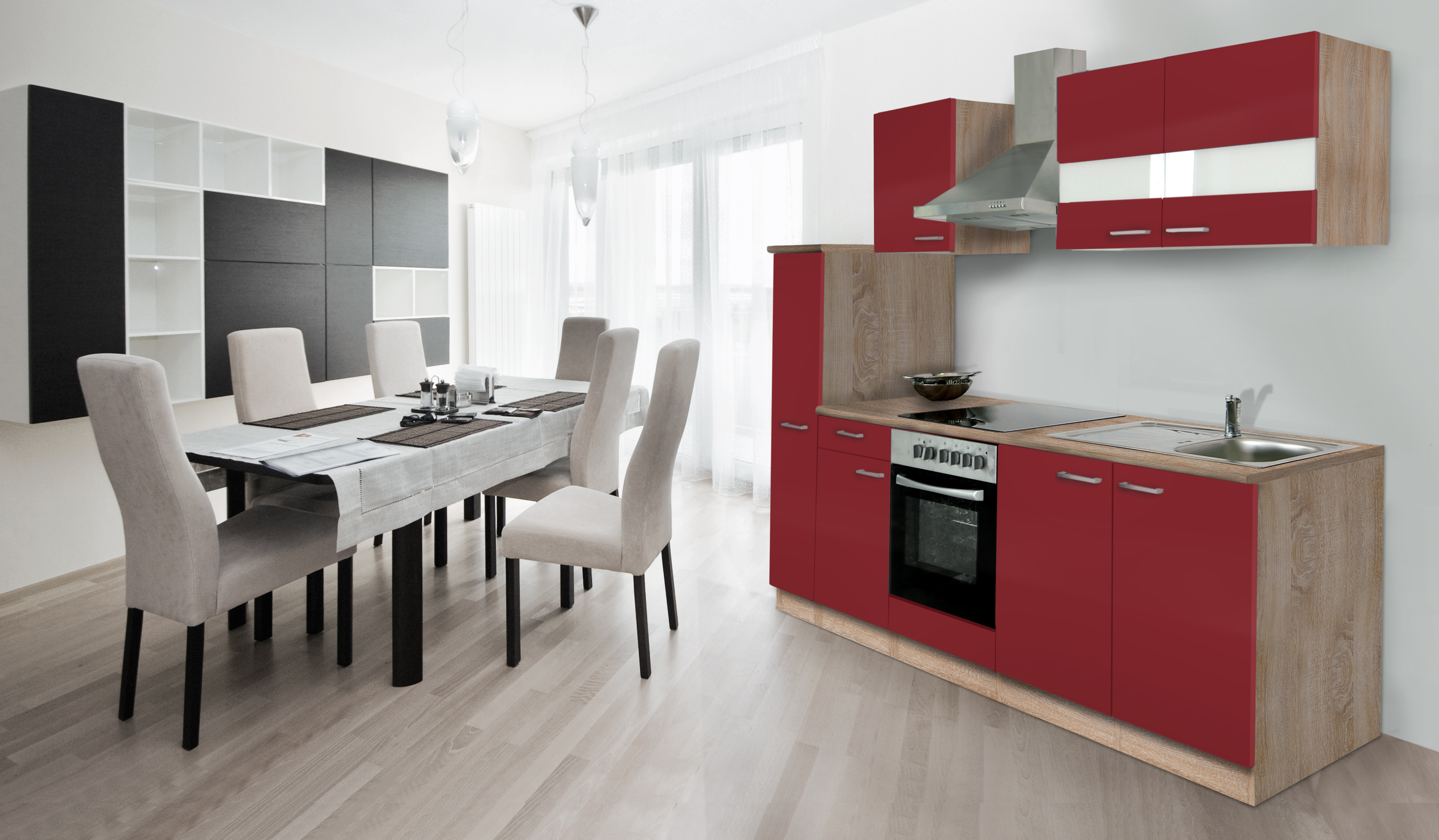 RESPEKTA incasso BLOCCO cucina angolo cottura 240 cm rovere ruvido ...