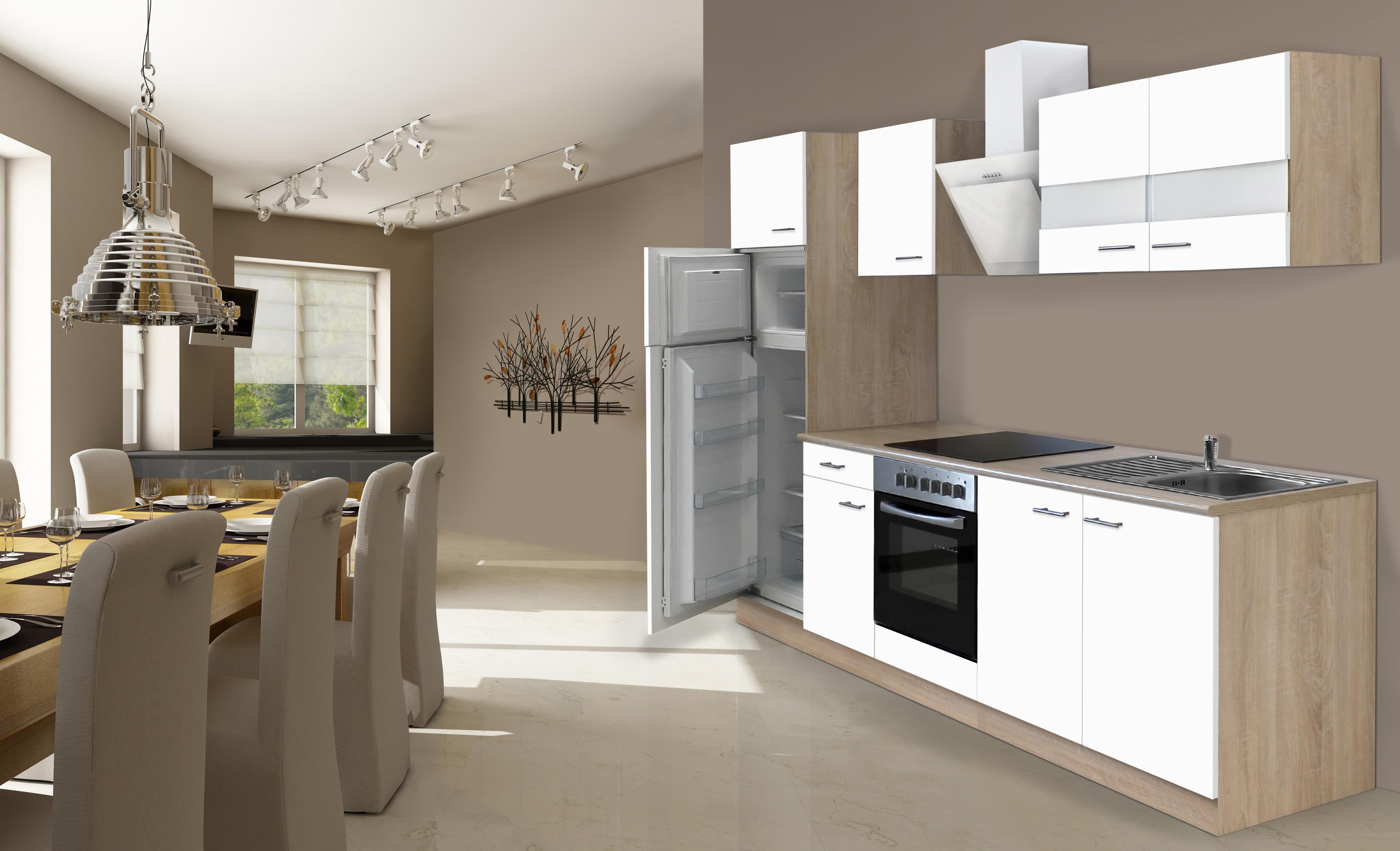 RESPEKTA cucina incasso cucina angolo cucina BLOCCO CUCINA 270 cm | eBay