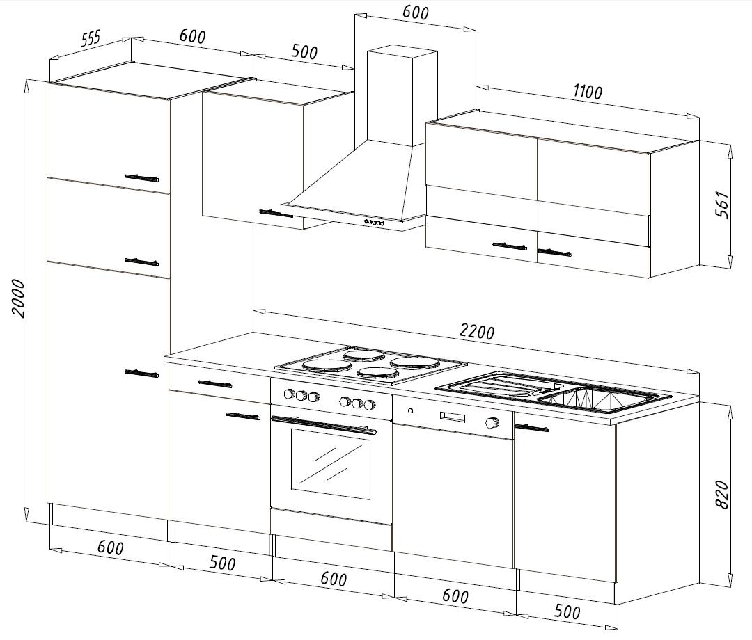 respekta einbau k che k chenzeile k chenblock 280 cm eiche s gerau rot k hlkombi ebay. Black Bedroom Furniture Sets. Home Design Ideas