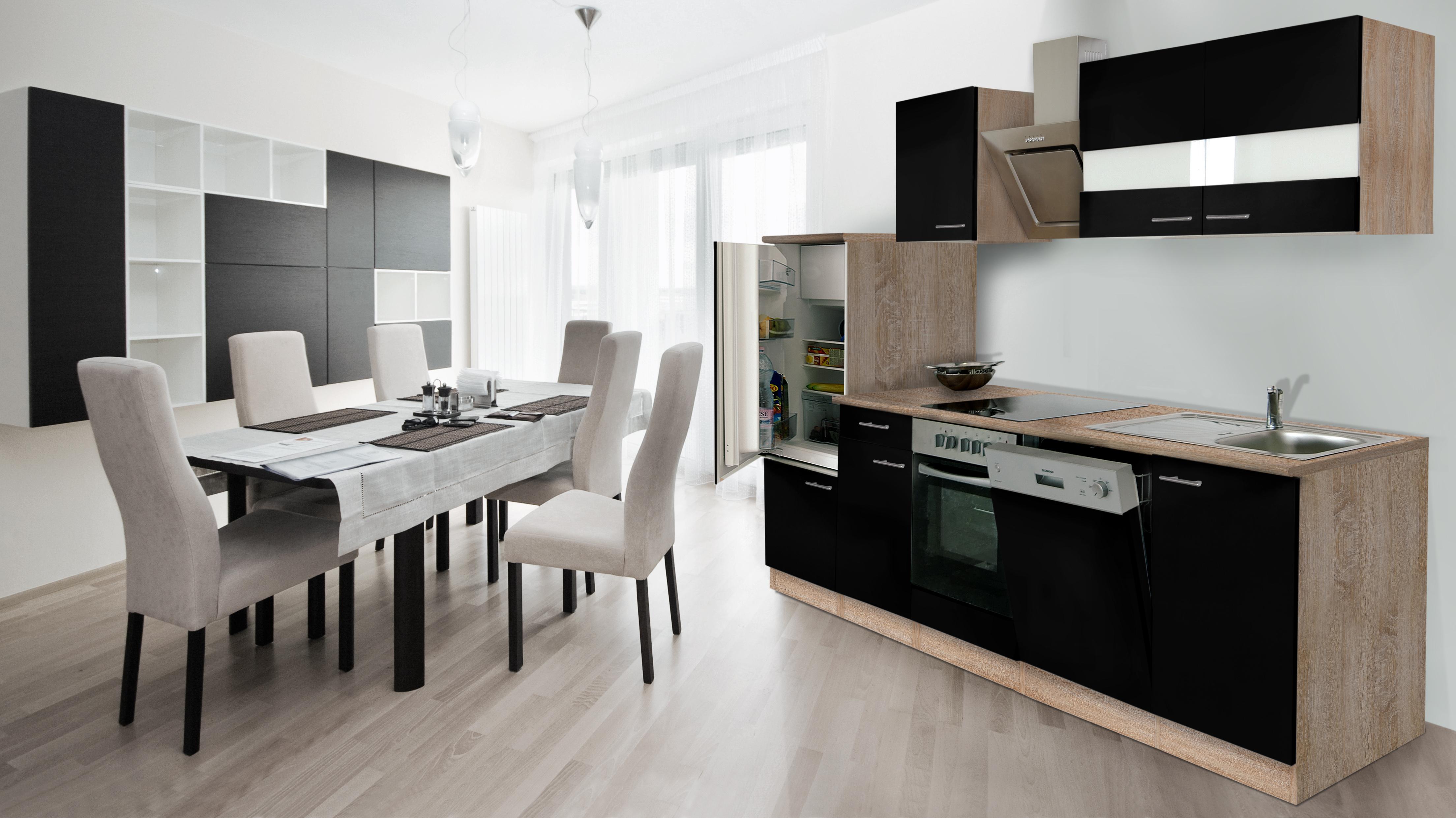 RESPEKTA cucina componibile BLOCCO cucina angolo cucina 280 cm | eBay