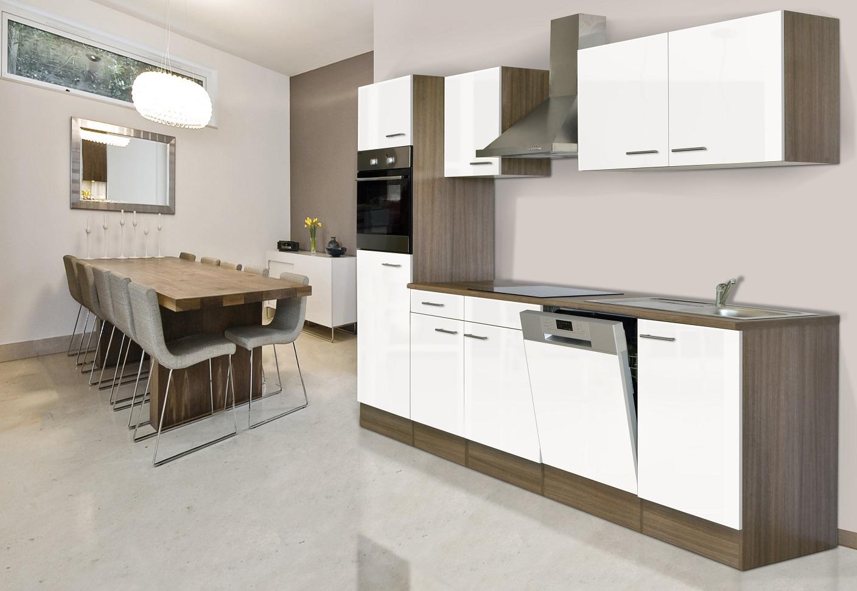 k chenzeile k che einbau k chenblock leerblock 280 cm. Black Bedroom Furniture Sets. Home Design Ideas