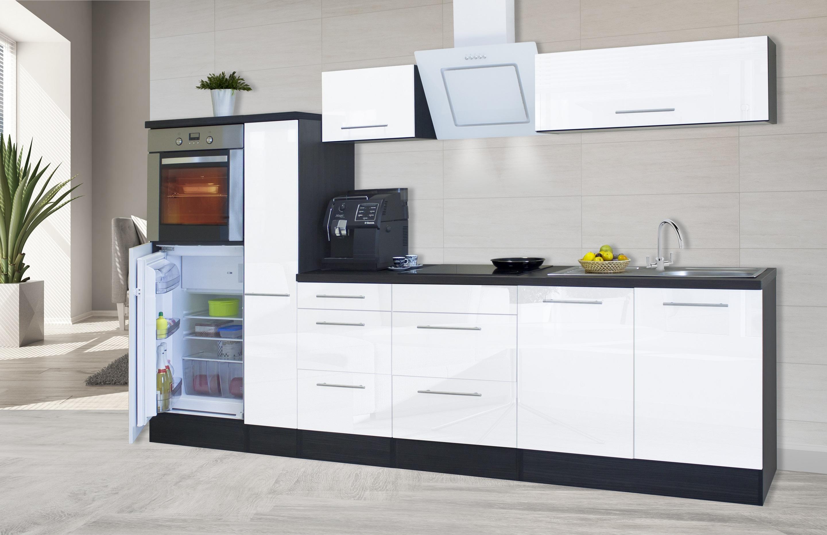 respekta premium einbau k che k chenzeile 300 cm eiche. Black Bedroom Furniture Sets. Home Design Ideas