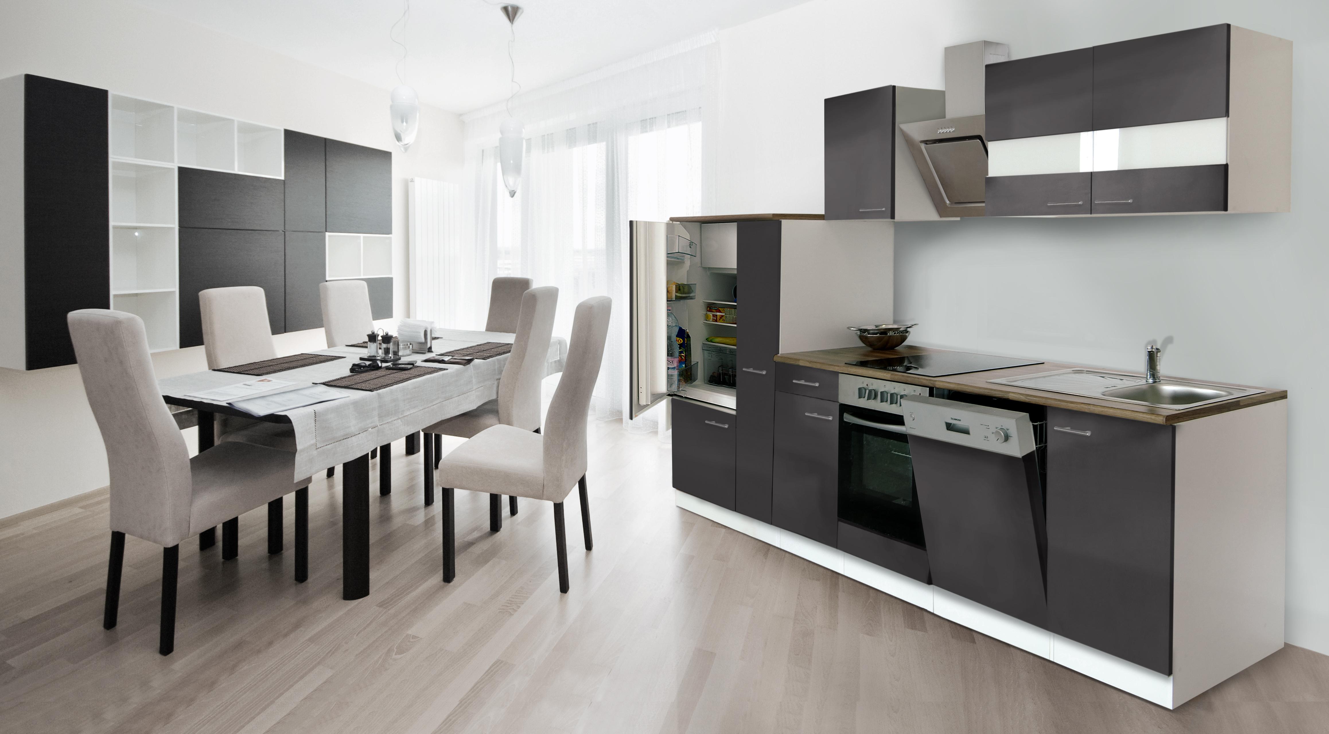 RESPEKTA incasso cucina angolo cottura 310 cm bianco davanti GRIGIO ...