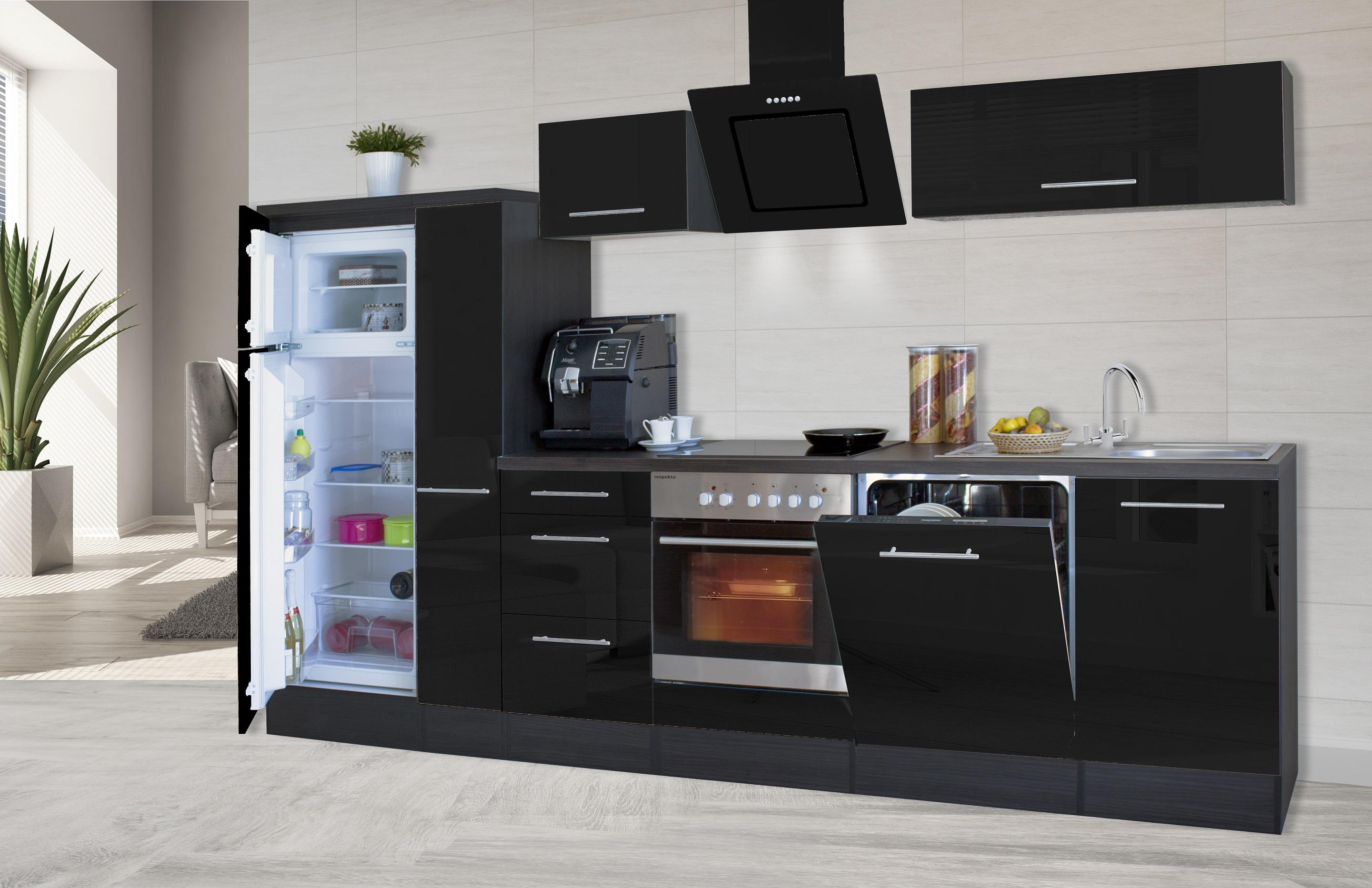 Respekta premium einbau kuche kuchenzeile 310cm eiche for Respekta küchen erfahrungen