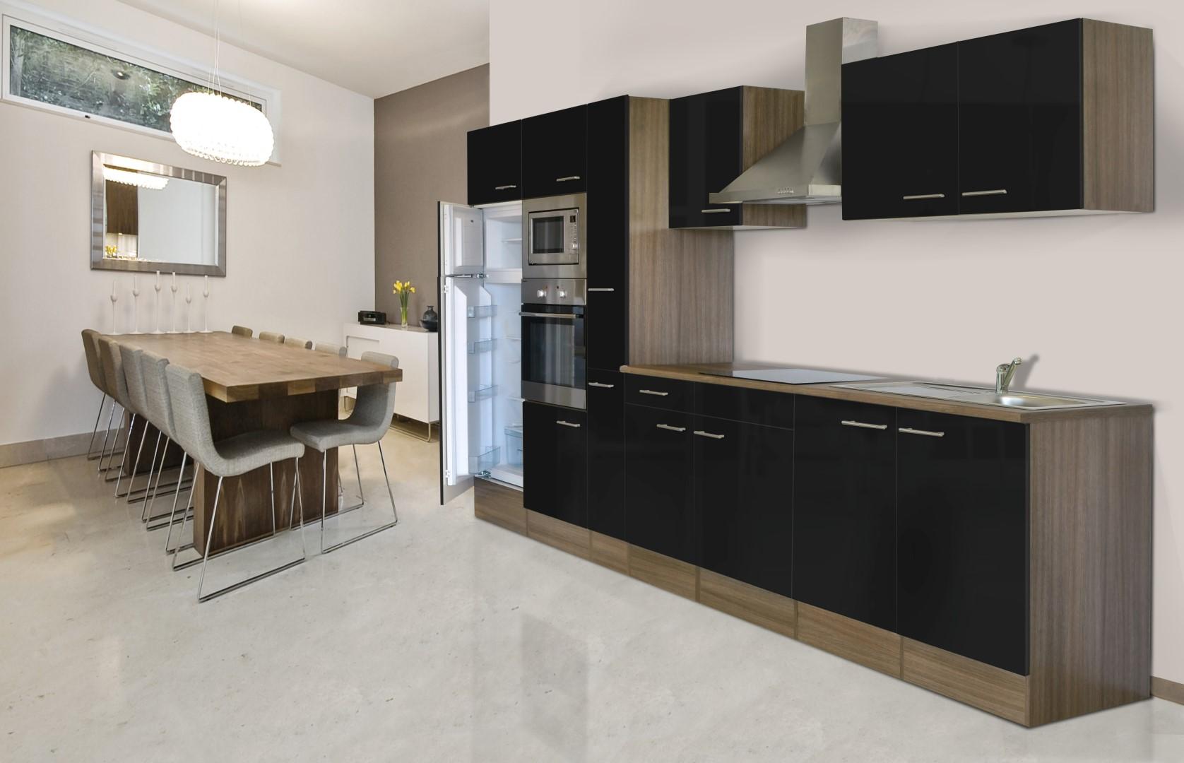 respekta Einbau Küche Küchenzeile Küchenblock 360 cm Eiche ...