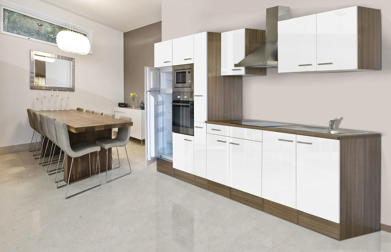 respekta k chenleerblock k che leerblock k chenzeile 360 cm eiche york weiss ebay. Black Bedroom Furniture Sets. Home Design Ideas