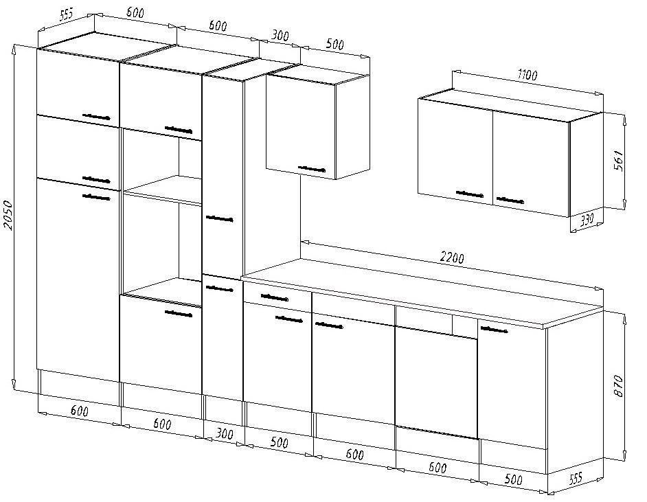respekta k chenleerblock k che leerblock k chenzeile 370 cm eiche york grau ebay. Black Bedroom Furniture Sets. Home Design Ideas