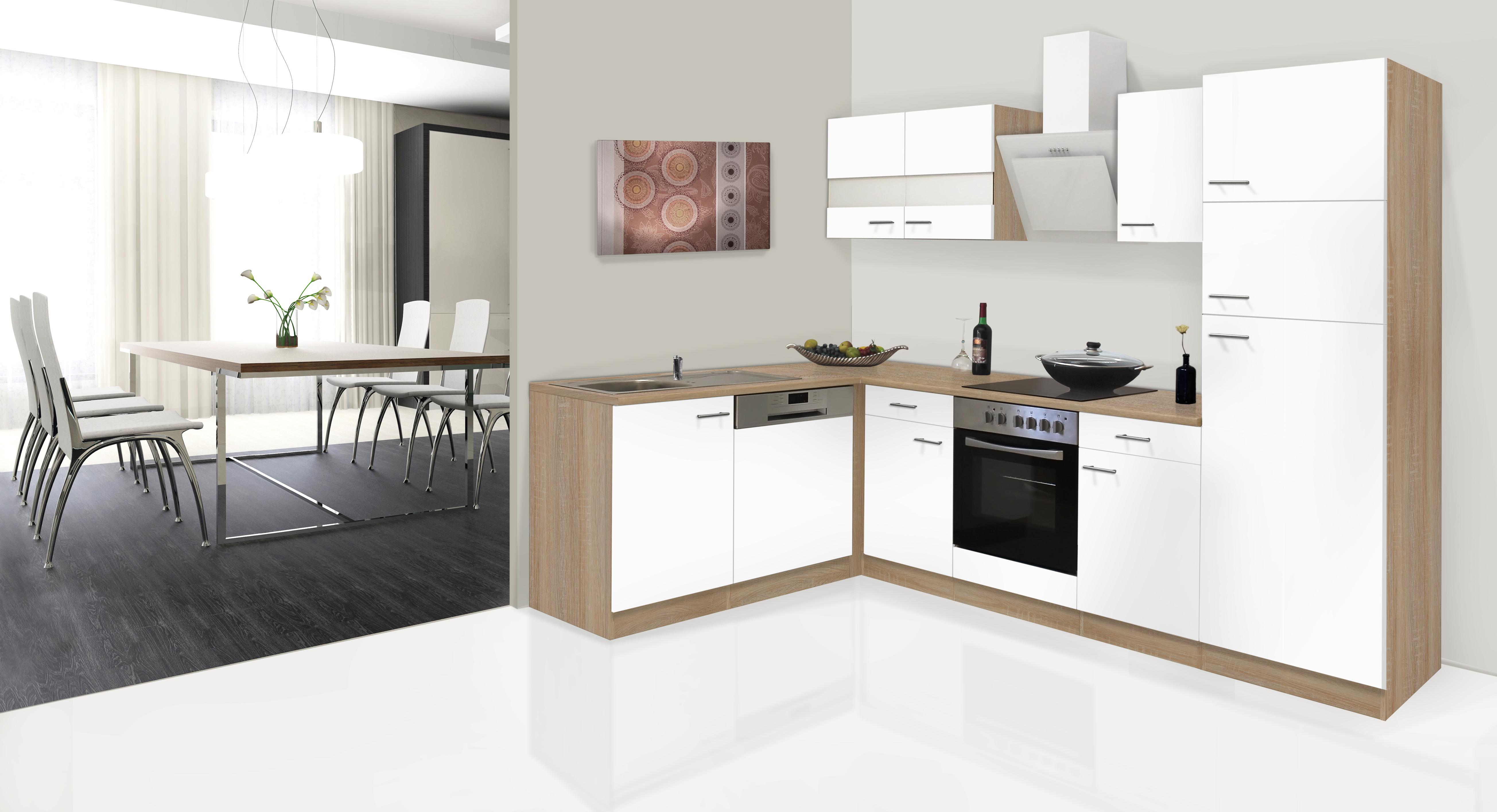 respekta k chenzeile winkelk che l form k che eiche. Black Bedroom Furniture Sets. Home Design Ideas