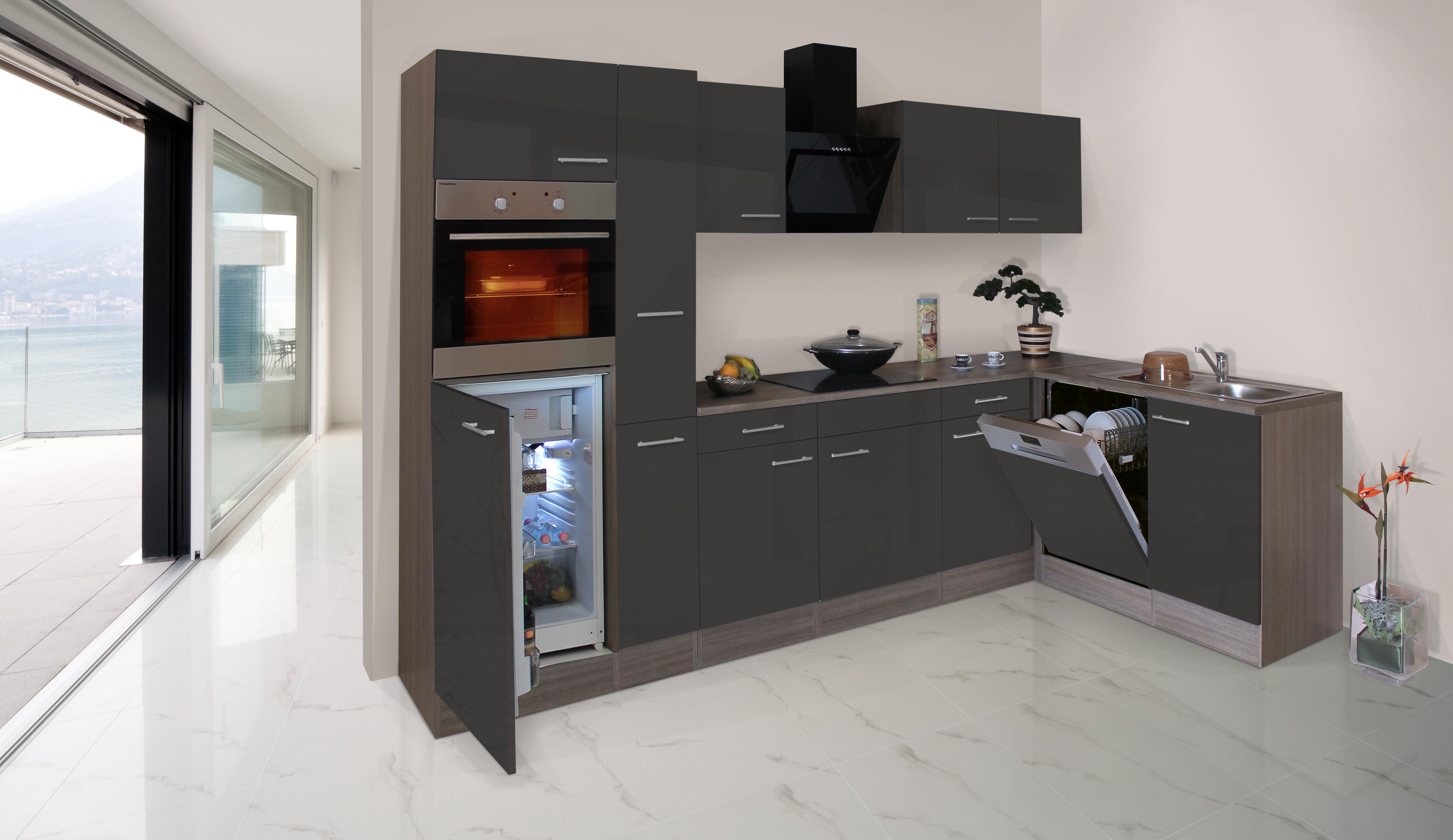 respekta economy l form winkel k che k chenzeile eiche. Black Bedroom Furniture Sets. Home Design Ideas