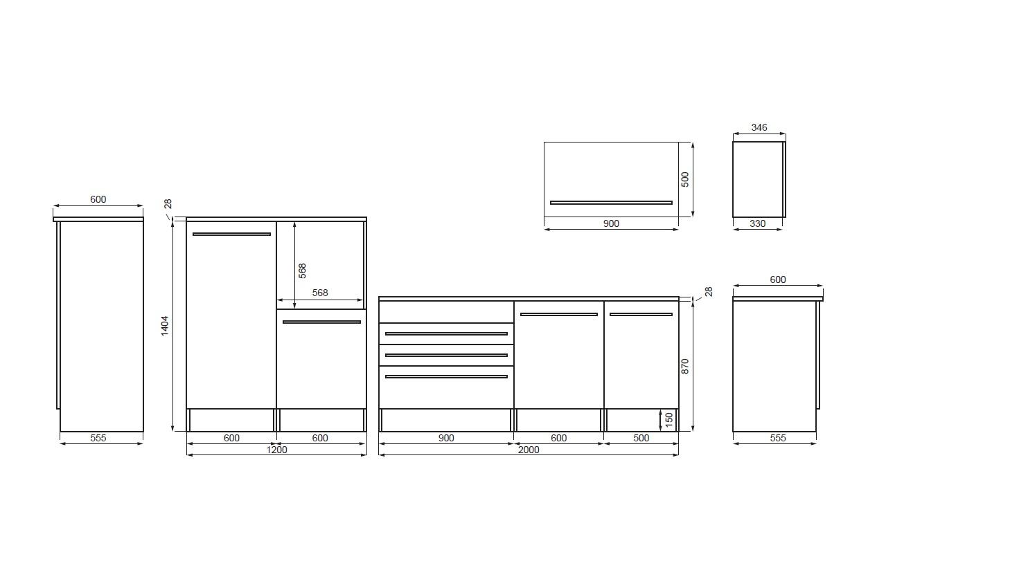 k che k chenzeile k chenblock einbauk che komplettk che wei 320 cm respekta ebay. Black Bedroom Furniture Sets. Home Design Ideas