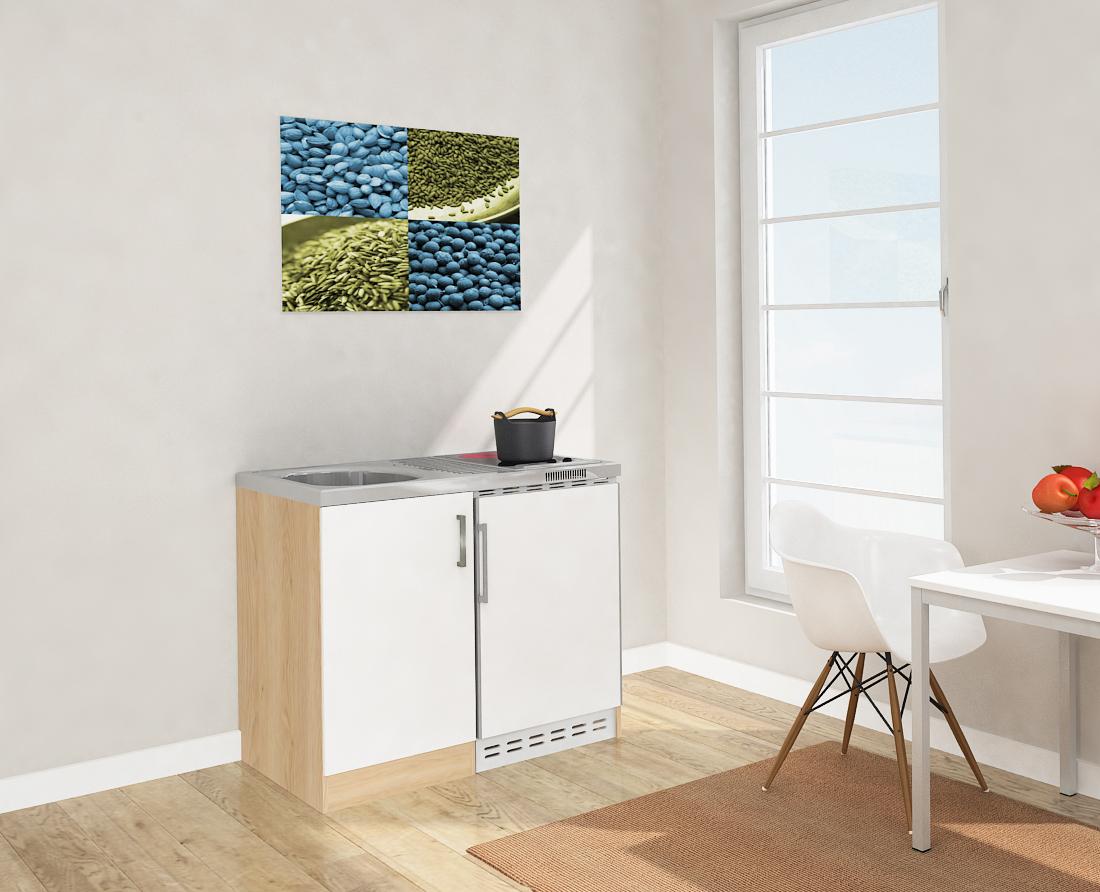 minik che k che k chenzeile k chenblock 100 cm eiche s gerau wei respekta ebay. Black Bedroom Furniture Sets. Home Design Ideas