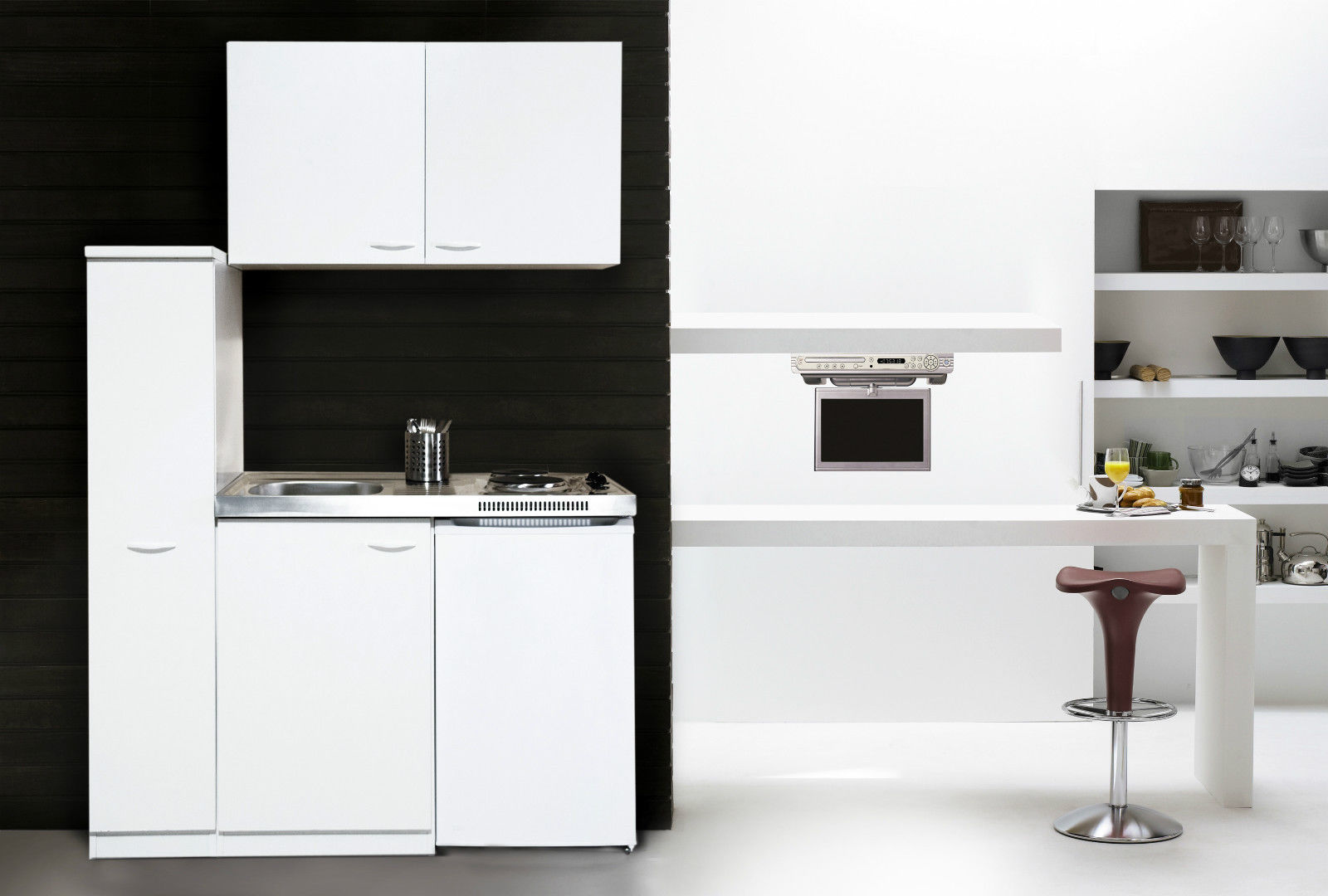 k che minik che k chenzeile k chenblock single pantryk che 130 cm wei respekta ebay. Black Bedroom Furniture Sets. Home Design Ideas