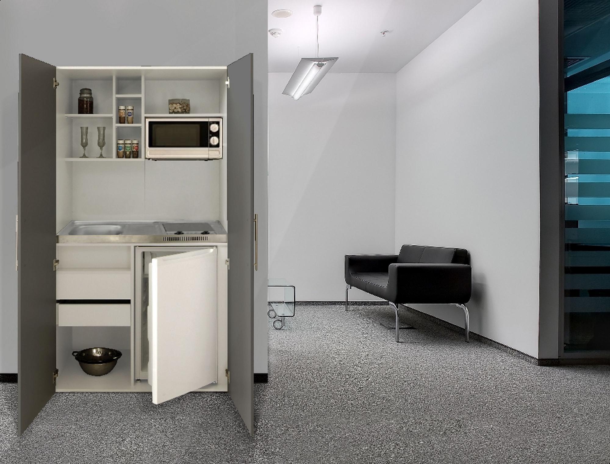 Dettagli su Cucina Armadio Cucina Mini Cucina Cucinino Ufficio Blocco  Cucina Bianco Grigio