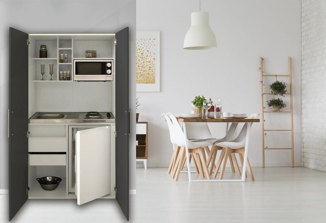 schrankk che k che minik che k chenzeile pantry. Black Bedroom Furniture Sets. Home Design Ideas