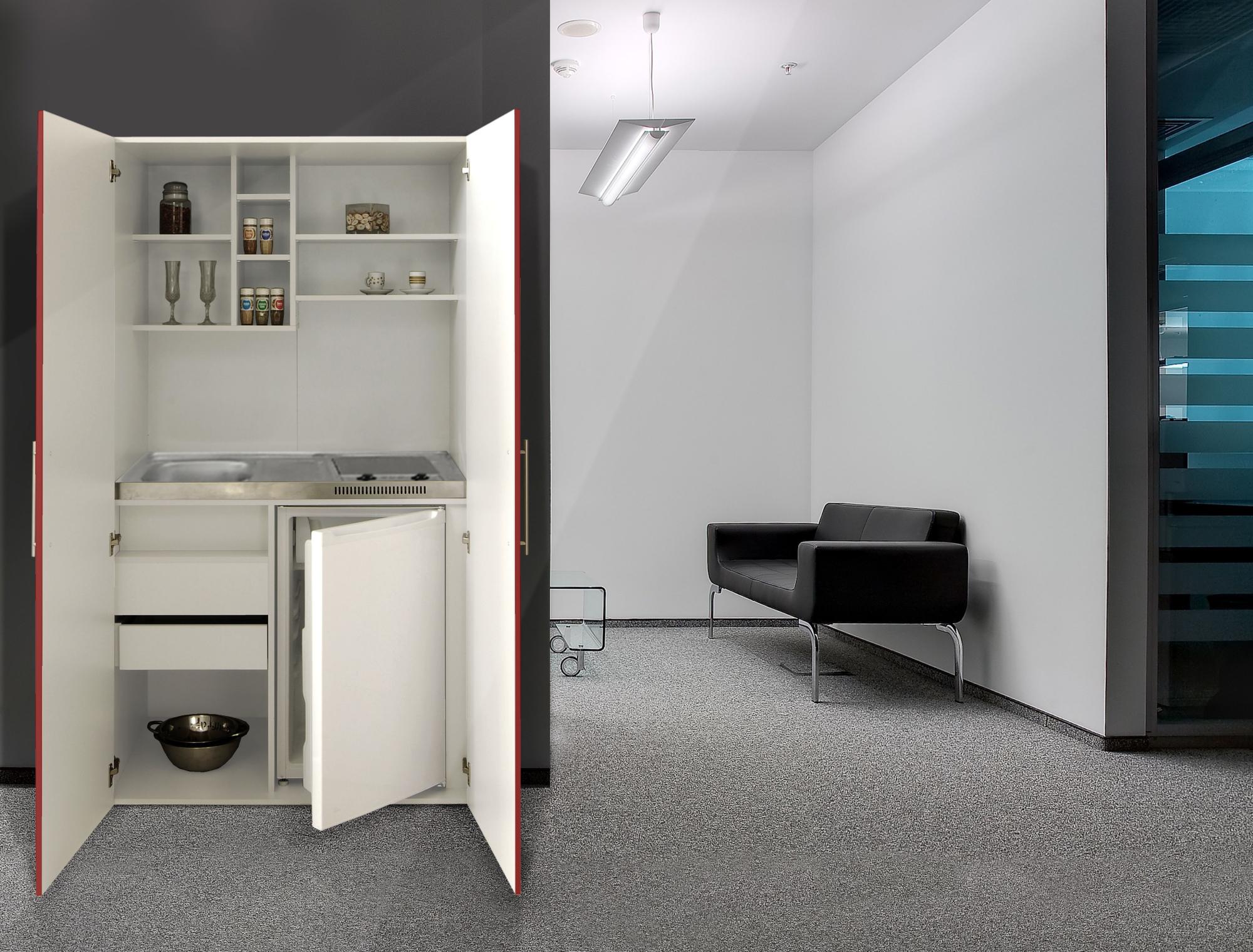 schrankk che k che minik che k chenzeile b ro k chenblock. Black Bedroom Furniture Sets. Home Design Ideas