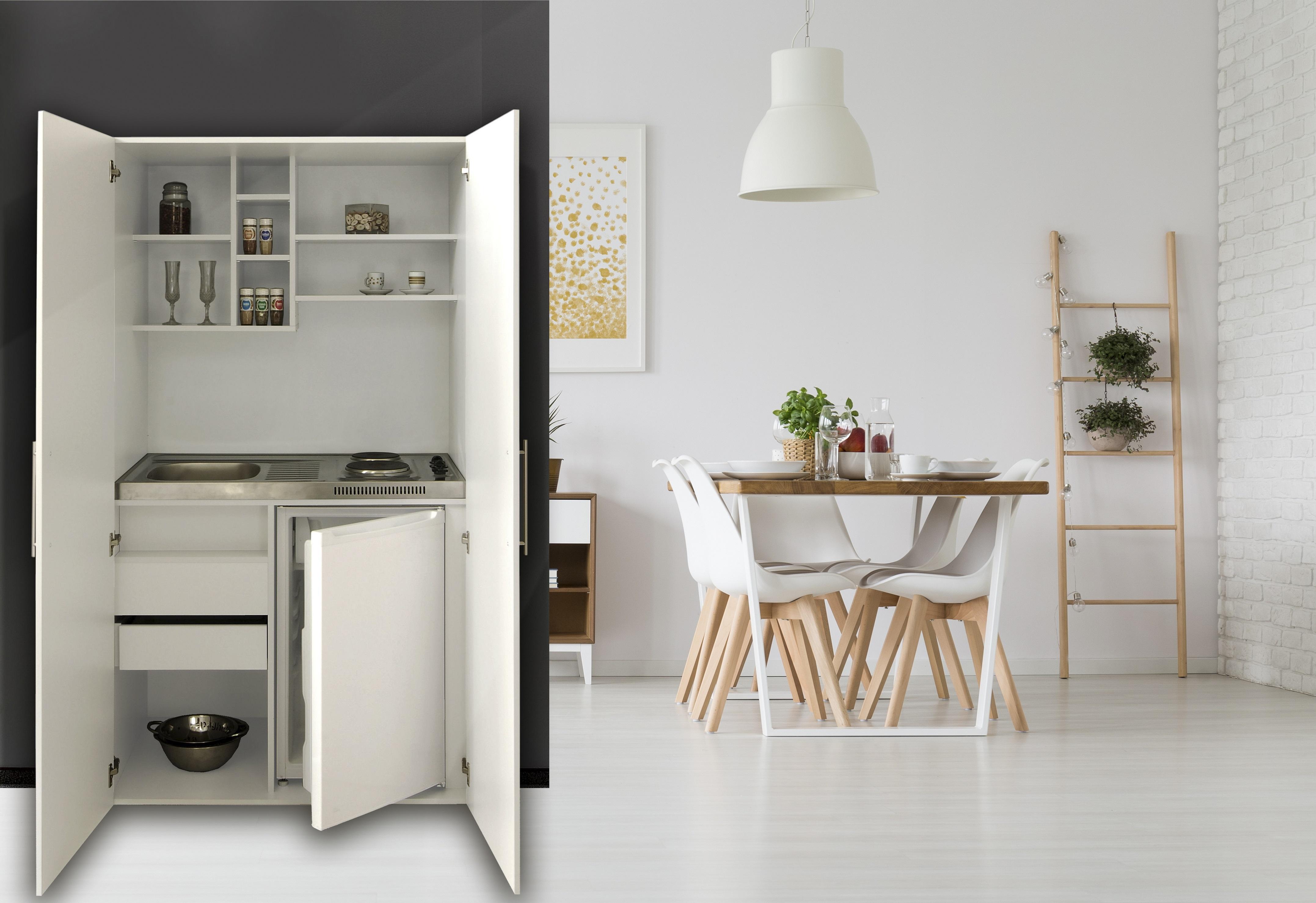 Dettagli su Cucina Armadio Cucina Mini Cucina Cucinino Blocco Cucina Cucina  Singola Bianco
