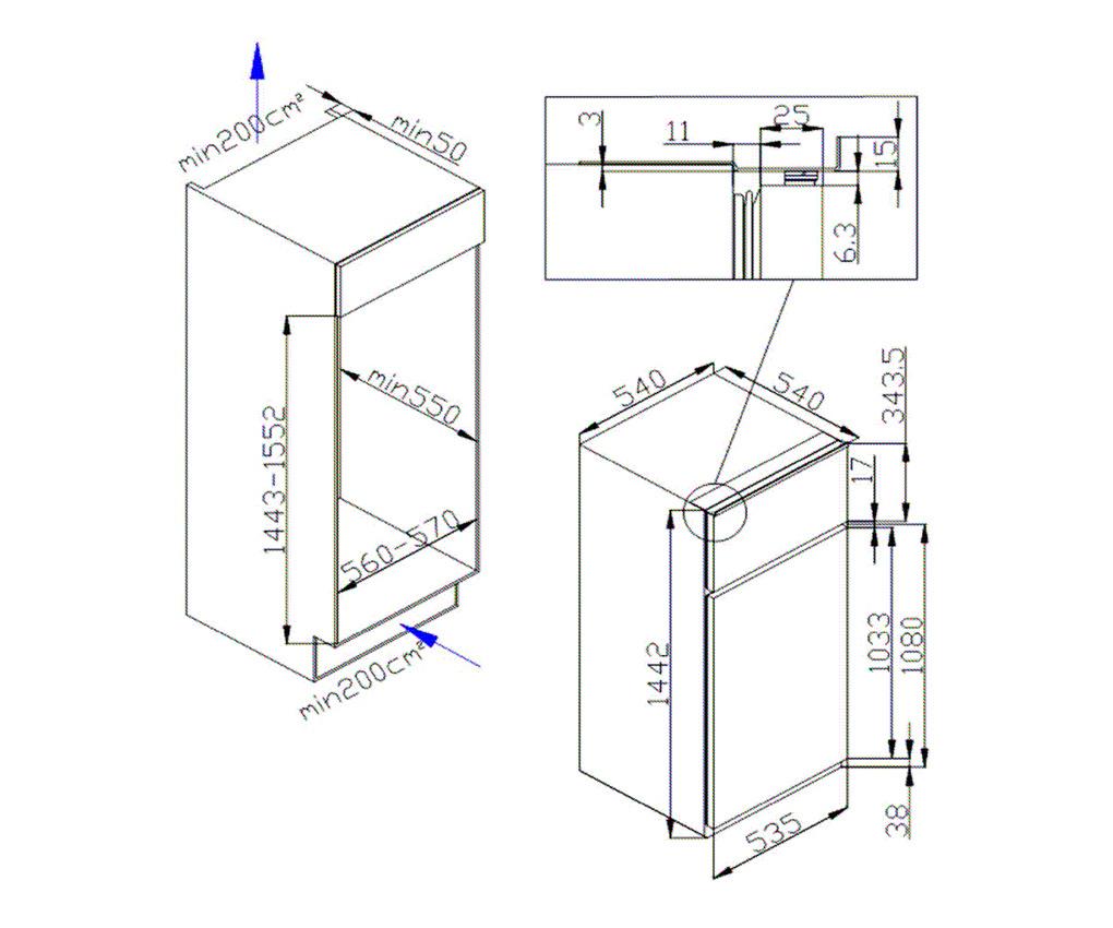 respekta einbau gefrierschrank gefrierkombination k hlschrank kombi 144 cm a ebay. Black Bedroom Furniture Sets. Home Design Ideas