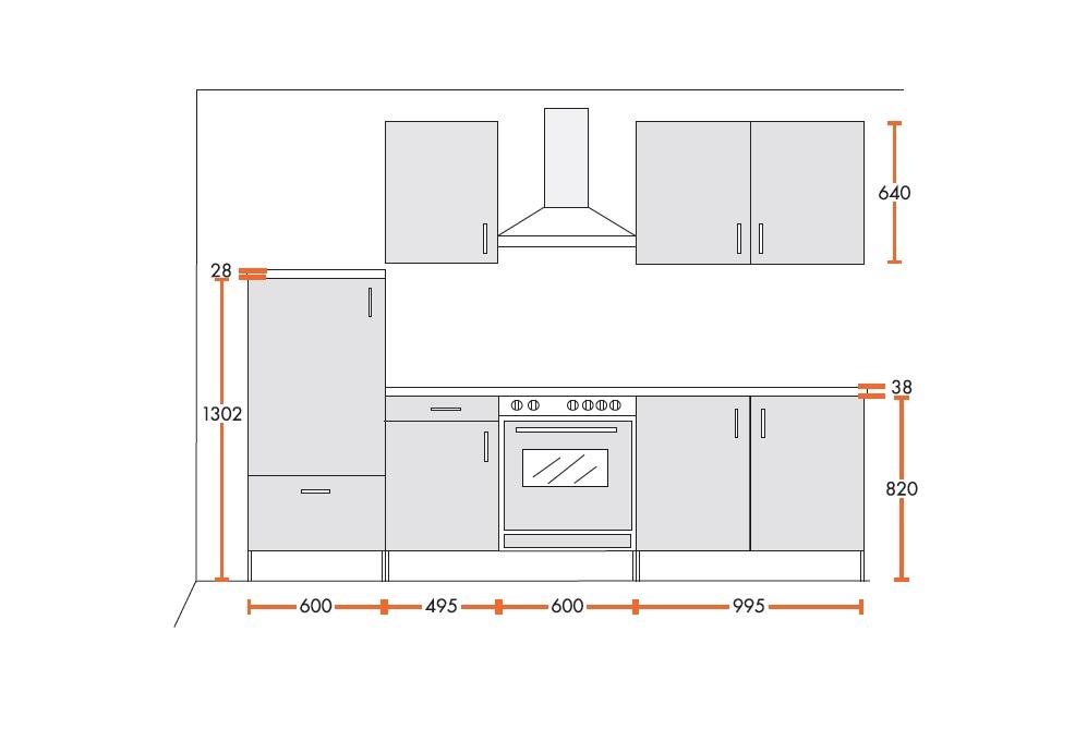 menke k chenzeile k che 270cm eiche sonoma hochglanz lack sahara beige ceran ebay. Black Bedroom Furniture Sets. Home Design Ideas